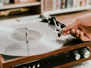 Crystals were used to create record players